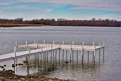 Photograph - Shallow Water Dock by Greg Jackson