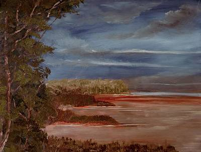 Alizarin Crimson Painting - Shallow Waters by Natan Estivallet