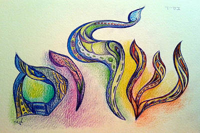 Drawing - Shalom by Miriam Shaw