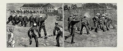 Final Drawing - Sham Fight In Jamaica Between Men Of H.m by Litz Collection