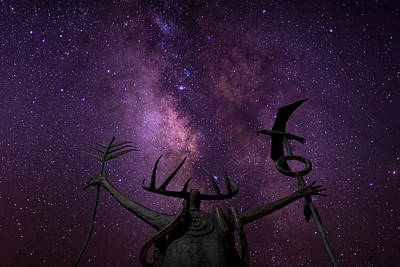 Shaman Calling Upon The Universe Art Print