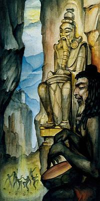 Sadhu Painting - Shaman Dance by Vrindavan Das