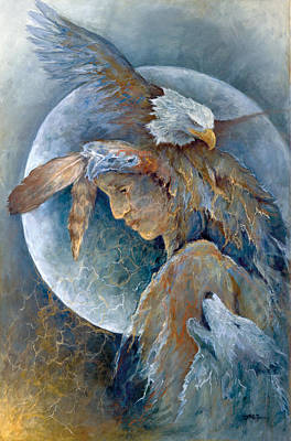 Zin Painting - Shaman by Mary Zins