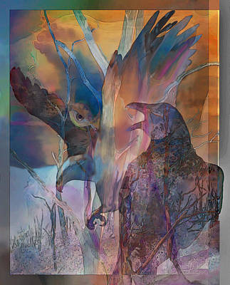 Shaman's Friends Art Print by Ursula Freer