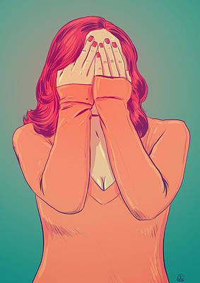 Ginger Drawing - Shame by Giuseppe Cristiano