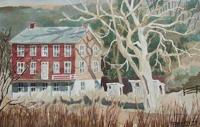Painting - Shamokin Dam House by Tony Caviston