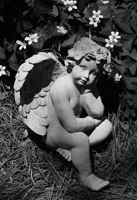 Photograph - Shamrock Angel In Black And White by Suzanne Gaff