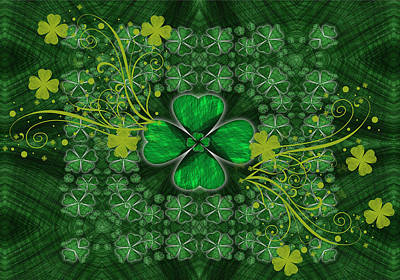 Shamrock Glory Art Print by Shannon Story
