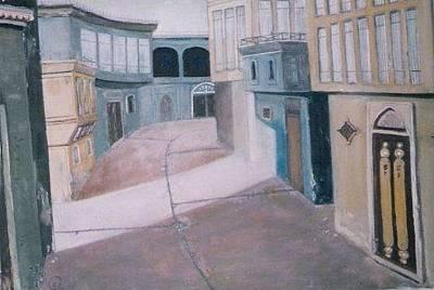 Baghdad City Painting - Shanasheel Of Baghdad 1 by Rami Besancon