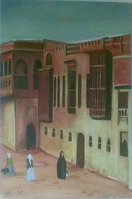 Old Iraqi City Painting - Shanashil Of Baghdad 2 by Rami Besancon