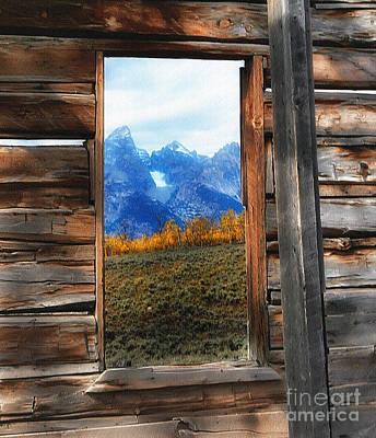 Shane Cabin Window  Art Print