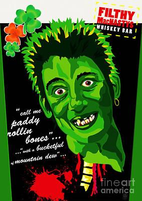 Vacant Mixed Media - Shane Macgowan Zombie by Neil Finnemore