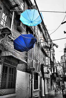 China Town Photograph - Shanghai After The Rain by Delphimages Photo Creations