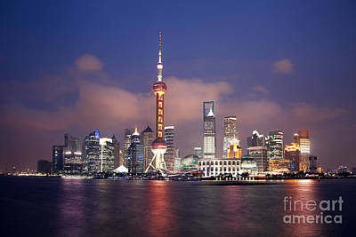 Expo Shanghai Photograph - Shanghai By Night by King Wu