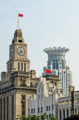 Bund Photograph - Shanghai, China Buildings In City Center by Michael Defreitas