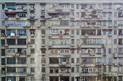 Shanghai Homes Print by Andre Distel