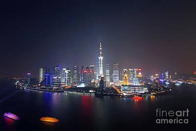Shanghai Art Print by Lars Ruecker