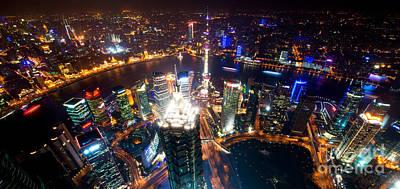Photograph - Shanghai Night Scenery by Yew Kwang