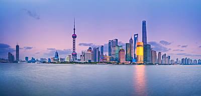 Photograph - Shanghai Pudong Skyline  by U Schade