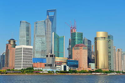 Photograph - Shanghai Skyline by Songquan Deng