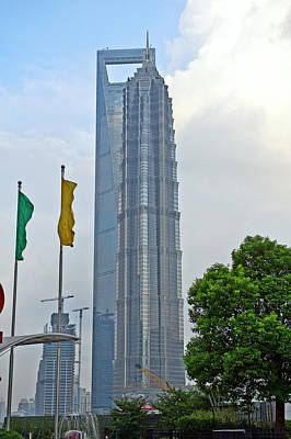 Photograph - Shanghai World Financial Centre And Jinmao Tower Pudong by Marek Poplawski