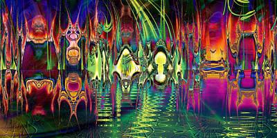 Digital Art - Shangri-la by Kiki Art