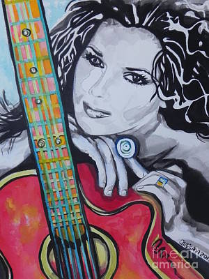 Chrisann Painting - Shania Twain by Chrisann Ellis