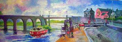 Painting - Shannon Bridge Co Offaly by Paul Weerasekera
