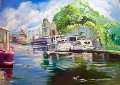 Painting - Shannon Harbour Co Offaly Ireland by Paul Weerasekera