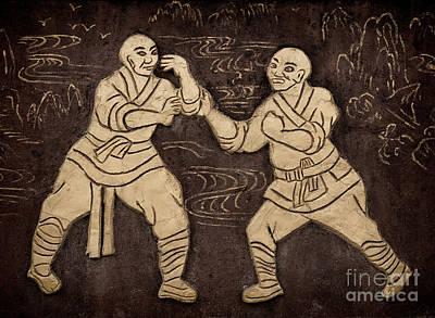 Shaolin Photograph - Shaolin Monks Artwork On A Wall by Oleksiy Maksymenko