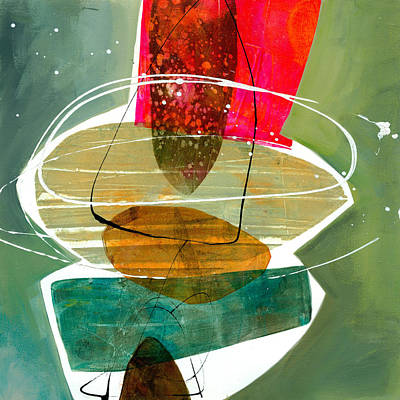 Abstract Shapes Painting - Shape 28 by Jane Davies
