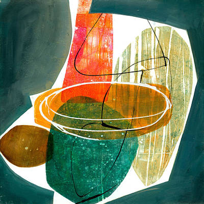 Abstract Shapes Painting - Shape 29 by Jane Davies