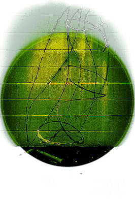 Digital Art - Shape No.101 Greenish Version by Fei Alexander