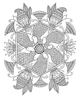 Fun Drawing - Shape Pattern 1 by Neeti Goswami