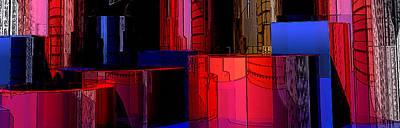 Platonic Digital Art - Shape Towers by David Balber