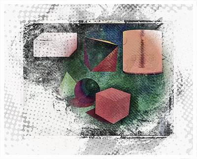 Art Print featuring the photograph Shapes by Allen Beilschmidt
