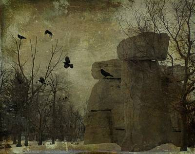 Stone Cold Shapes Art Print by Gothicrow Images