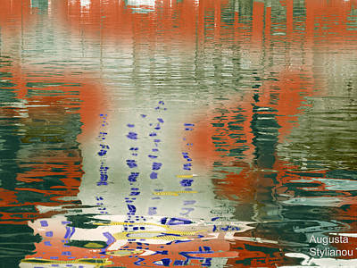 Modern Abstract Digital Art Digital Art Photograph - Shapes In The Water by Augusta Stylianou