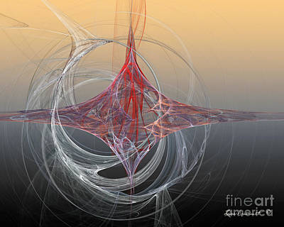 Digital Art - Shapes Infusing by Leona Arsenault