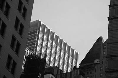 Photograph - Shapes Of N Y C In Black And White by Rob Hans