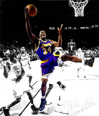 Louisiana State University Digital Art - Shaquille O Neal by Brian Reaves