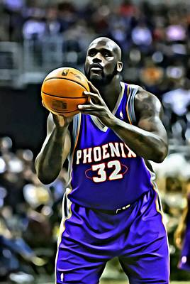 Painting - Shaquille O'neal by Florian Rodarte
