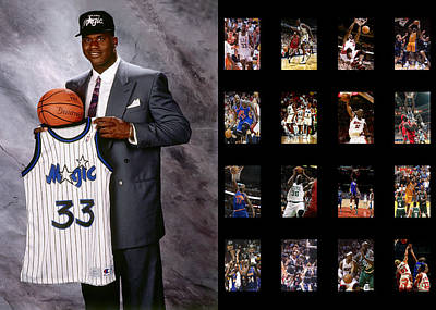 Orlando Magic Photograph - Shaquille O'neal by Joe Hamilton