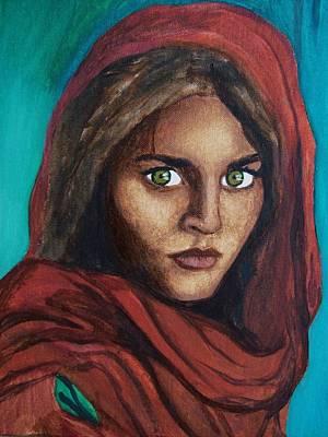 Sharbat Gula Art Print by Amber Stanford