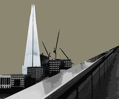 Development Mixed Media - Shard - French Grey by Big Fat Arts