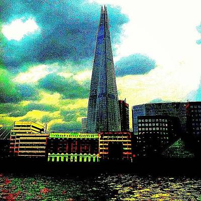 Abstract Skyline Wall Art - Photograph - Shard by Urbane Alien