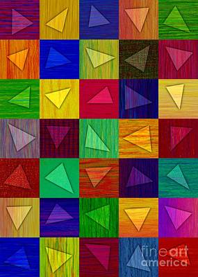 Colored Pencil Abstract Painting - Shards by David K Small