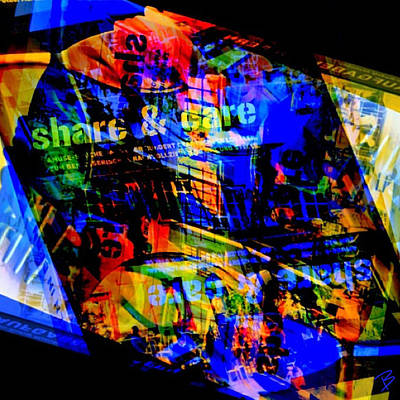 Pop Art Photograph - Share And Care by Barbs Popart