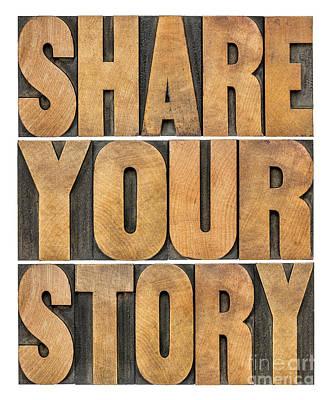 Share Your Story Art Print by Marek Uliasz