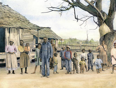 Sharecroppers, 1937 Art Print by Granger